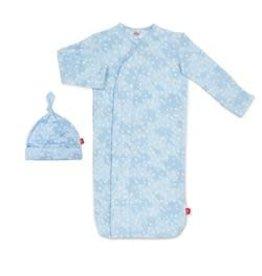 Magnetic Me Blue Doeskin Modal Magnetic Sack Gown Set NB-3M