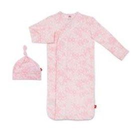 Magnetic Me Pink Doeskin Modal Magnetic Sack Gown Set NB-3M