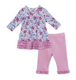 Magnetic Me Darlington Floral Organic Cotton Dress + Pant
