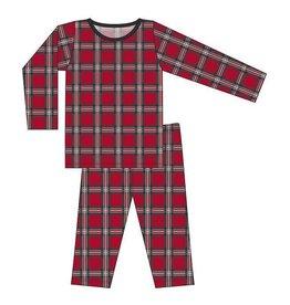 Kickee Pants Print Long Sleeve Pajama Set Christmas Plaid 2019 2T