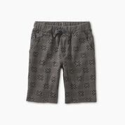 Tea Collection Pattern Cruiser Shorts - Basketweave Geo 4