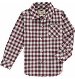Me + Henry Wine Plaid Shirt, Boys 4-5Y