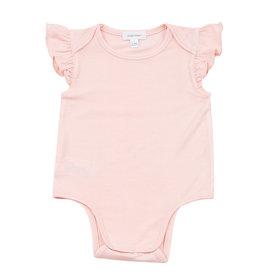 Angel Dear Ruffle Sleeve Bodysuit, Solid Light Pink