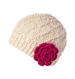 Millymook and Dozer Baby Girls Beanie - Madeline Cream L (12-24m)