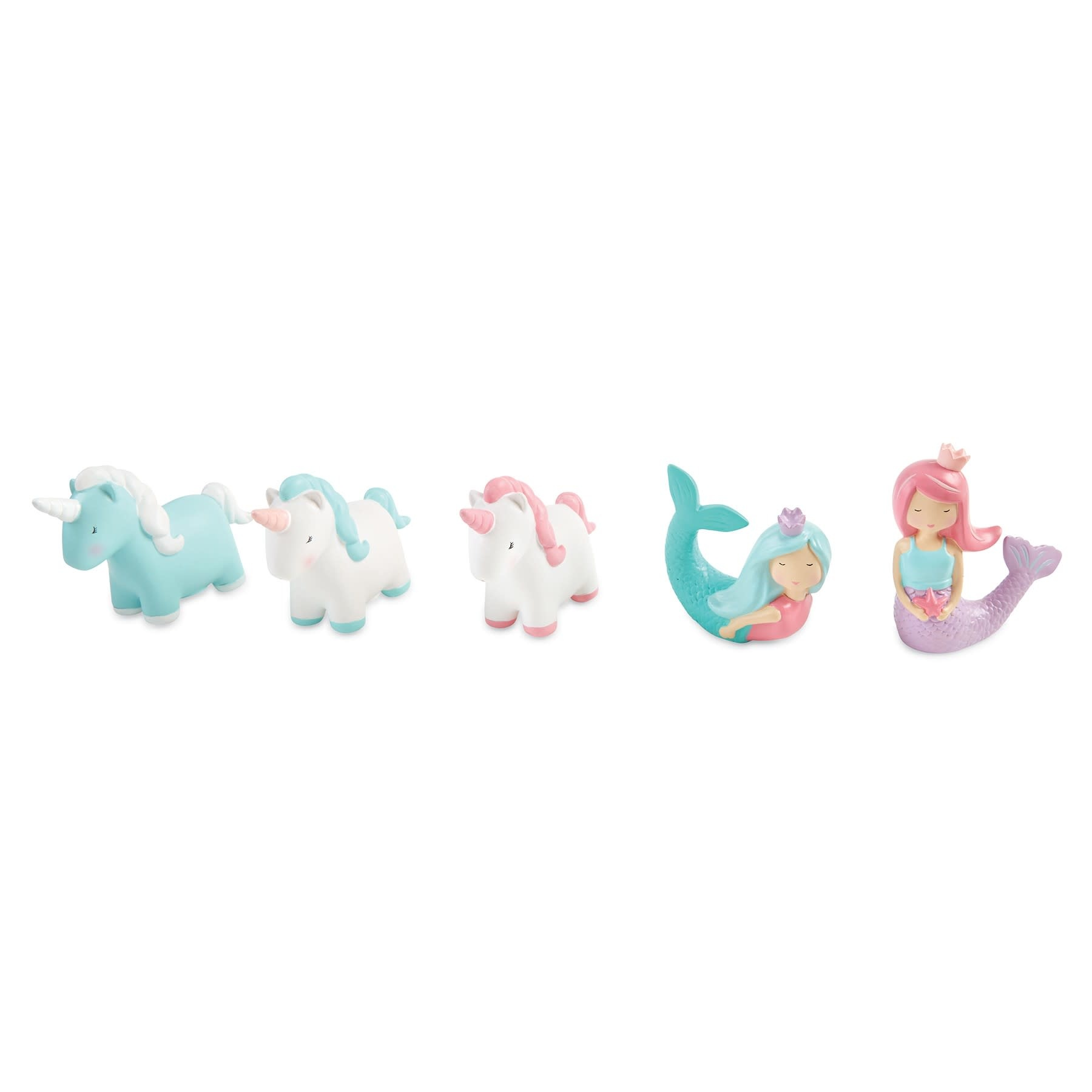 Mud Pie Unicorn-Bath Toy-Blue&White