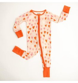 Little Sleepies Convertible Romper/Sleeper Hearts