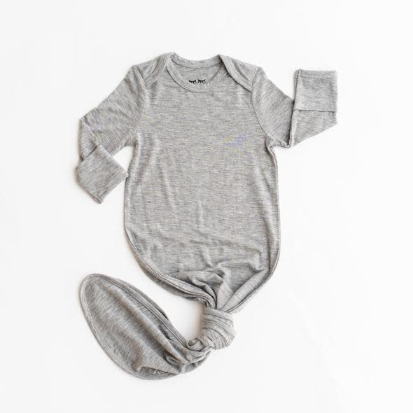 Little Sleepies Knotted Gown Grey