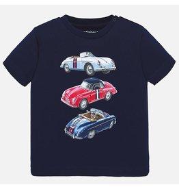 Mayoral Short Sleeved T-shirt Baby Boy - Navy Cars