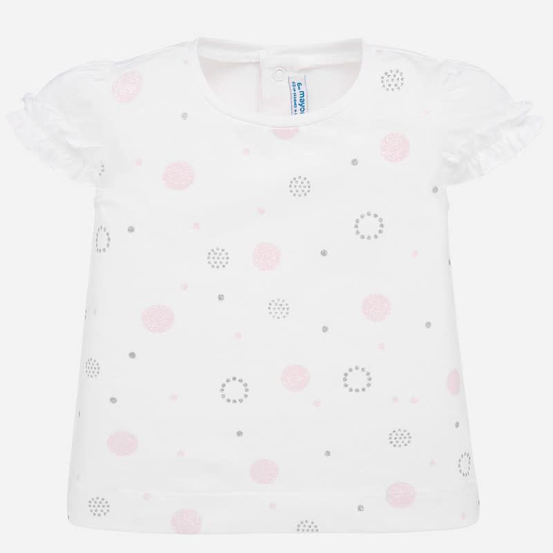 Mayoral Mayoral Short Sleeved T-shirt Baby Girl Rose Dot