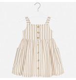 Mayoral Dress Girl - Sand Stripes