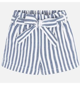 Mayoral Shorts Girl - Blue Stripes