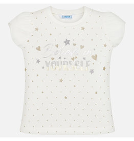 Mayoral Short Sleeved T-Shirt Girls - Stars Believe