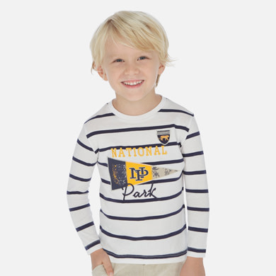 Mayoral Long Sleeved T-Shirt Boy - Stripes 070