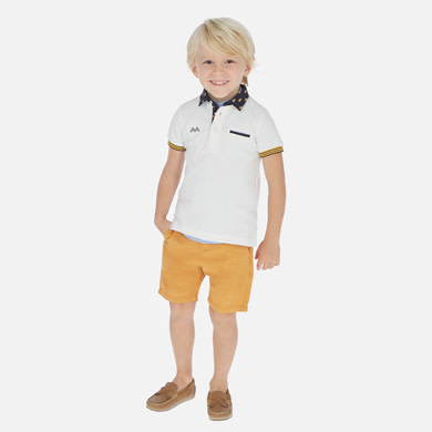 Mayoral Linen Shorts Boy - Pollen