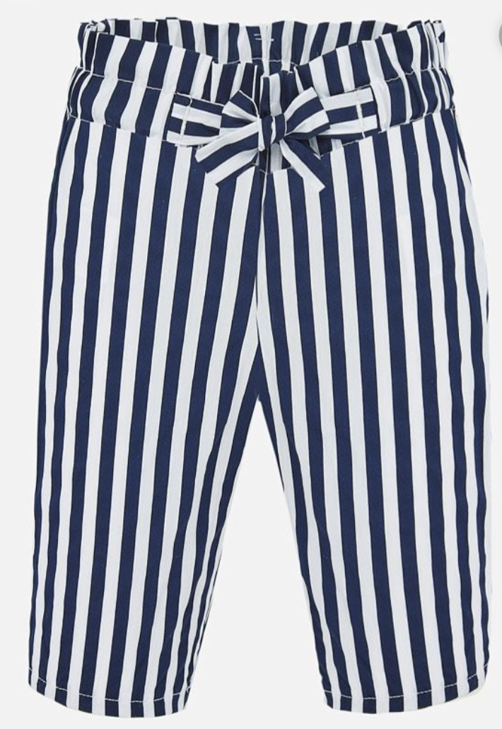 Mayoral Poplin Trousers for Baby Girl - Navy