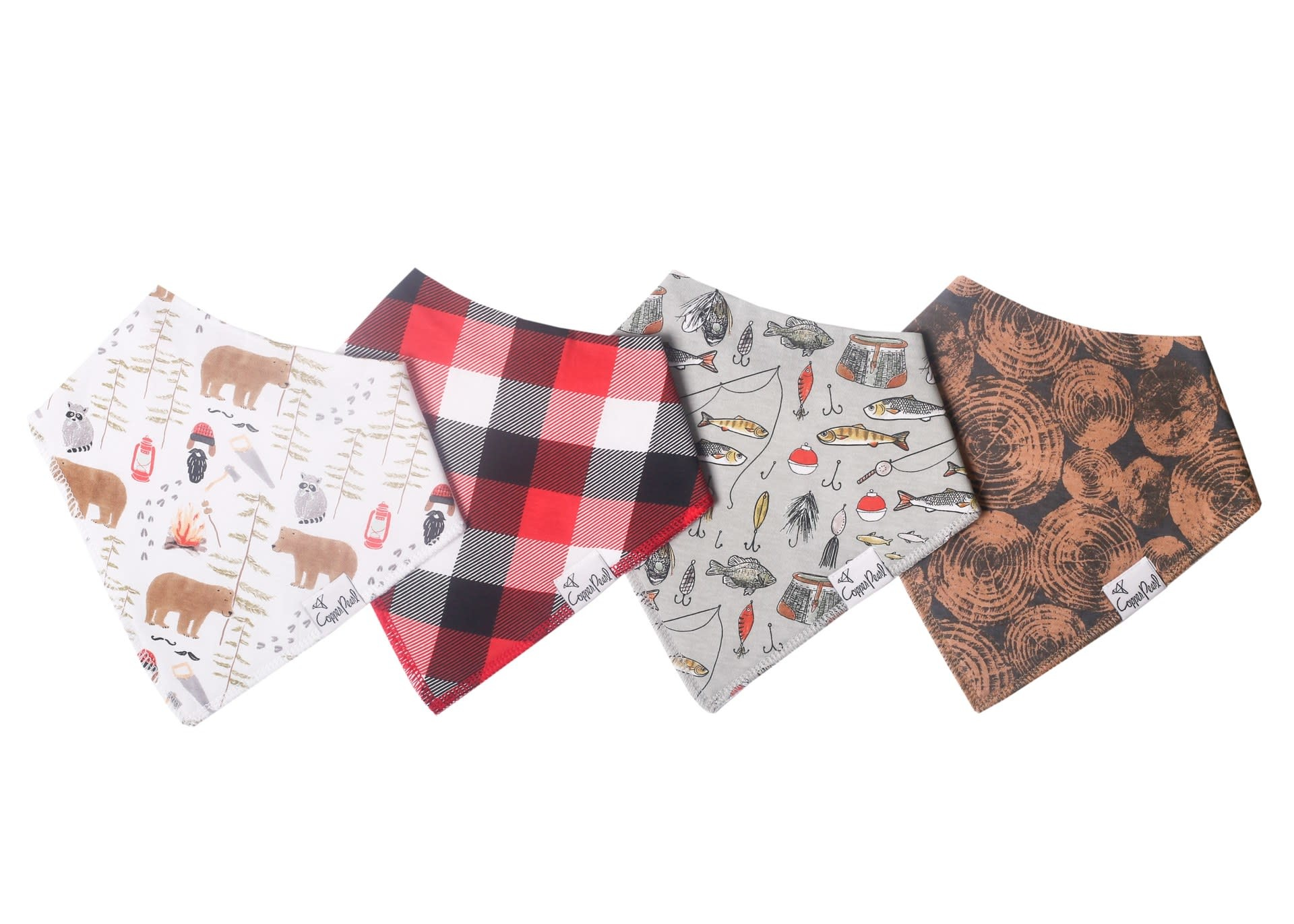 Copper Pearl Bibs - Lumberjack Set - 4 pack