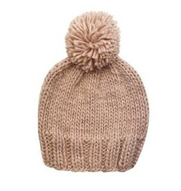 The Blueberry Hill Single Pom Hat - Pale Dogwood Pink M 2-8y