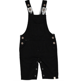 Me + Henry Charcoal Black Cord Overalls, Baby 0-3M
