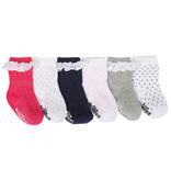 Robeez 6 Pk Socks, Girls Pretty in Lace Socks