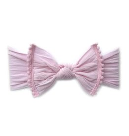 Baby Bling Bows Trimmed Classic Knot - Pink Pom