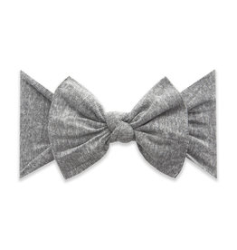 Baby Bling Bows Patterned Knot - Heathered Grey