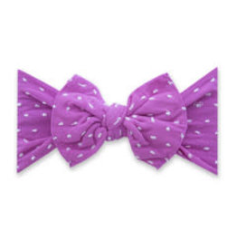 Baby Bling Bows Patterned Knot - Shabby Barbie Dot