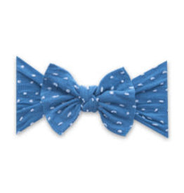 Baby Bling Bows Patterned Knot - Shabby Laguna Dot