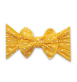 Baby Bling Bows Patterned Knot - Shabby Sunshine Dot