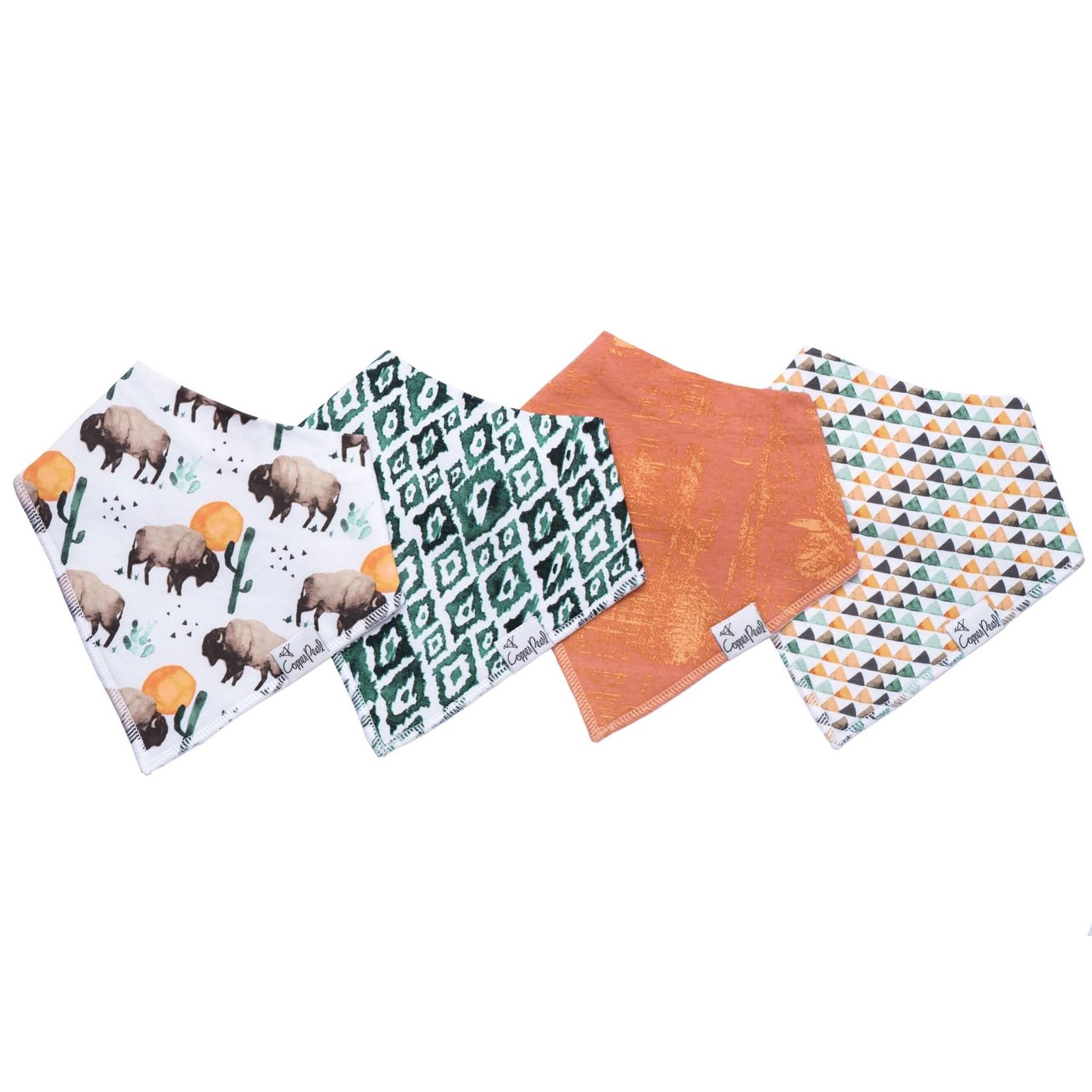 Copper Pearl Bibs - Bison Set - 4 pack