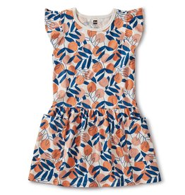 Tea Collection Pocket Dress - Spring Citrus