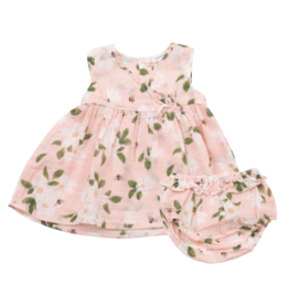 Angel Dear Ruffle Dress And Diaper Cover - Magnolias