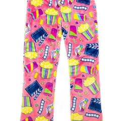 Candy Pink Girls Lounge Pant Movie Night 2/3T