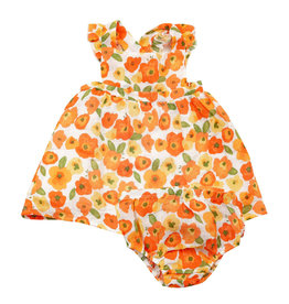 Angel Dear Sundress and Diaper Cover - Poppies
