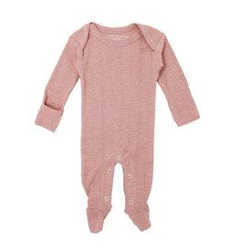 Loved Baby Pointelle Lap-Shoulder Footie - Mauve