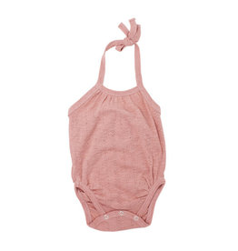 Loved Baby Pointelle Crossback Bodysuit - Mauve
