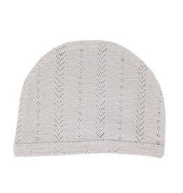 Loved Baby Pointelle Hat - Light Gray 0-3M