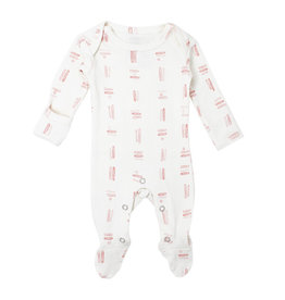 Loved Baby Organic Lap-Shoulder Footie - Mauve Tribe