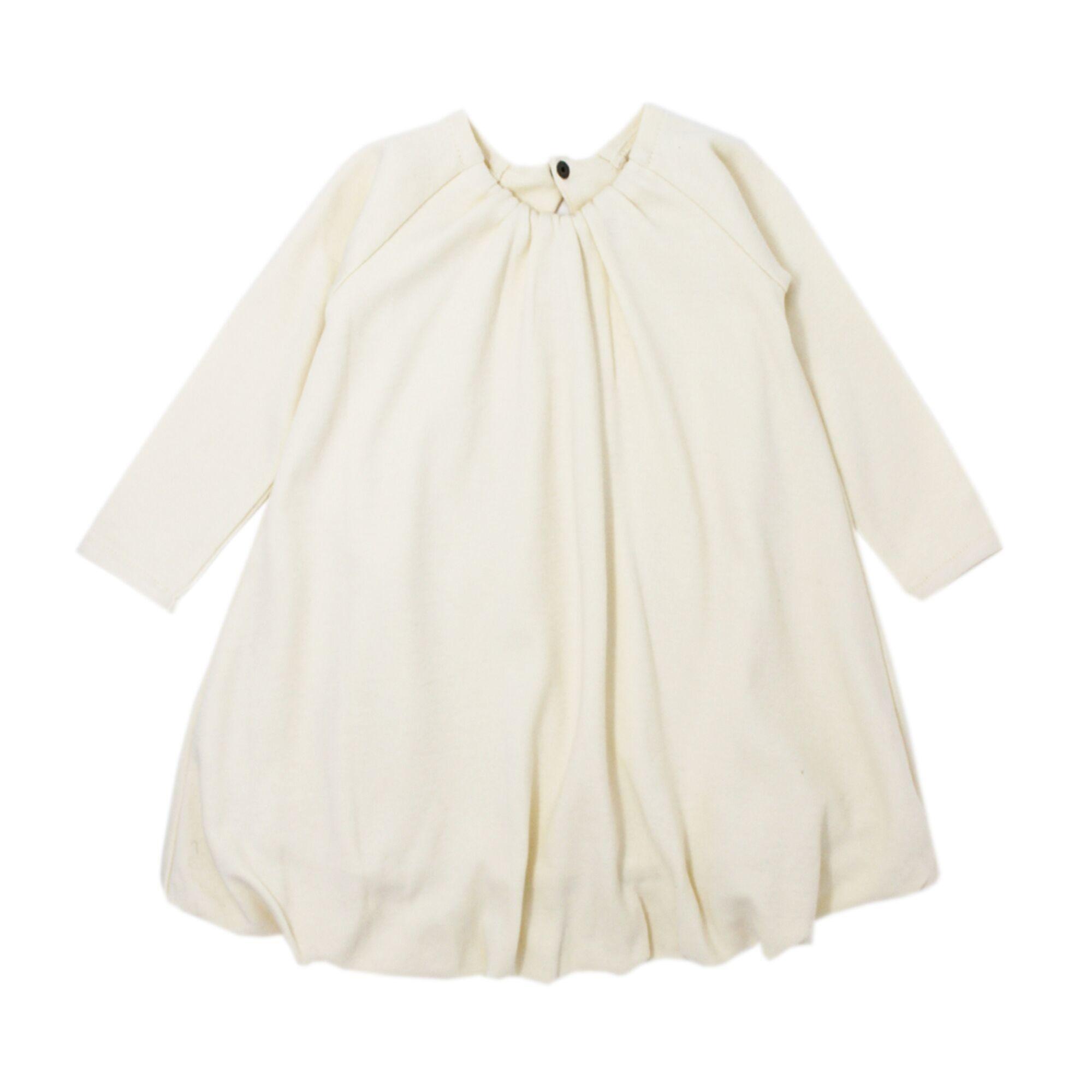 Loved Baby Organic Kids Bubble Dress - Beige 5/6