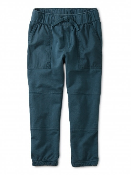 Tea Collection Baby Woven Patch Pocket Joggers - Bedford Blue 6-9M