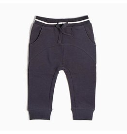 Miles Baby Jogger Pant Knit - Dark Grey Skis 18M
