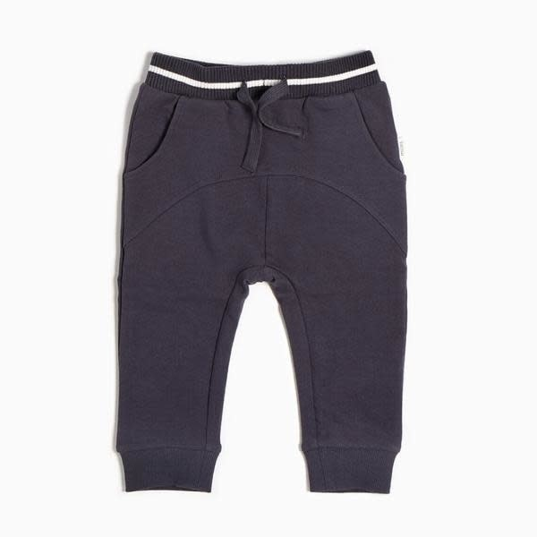 Miles Baby Jogger Pant Knit - Dark Grey Skis 18M