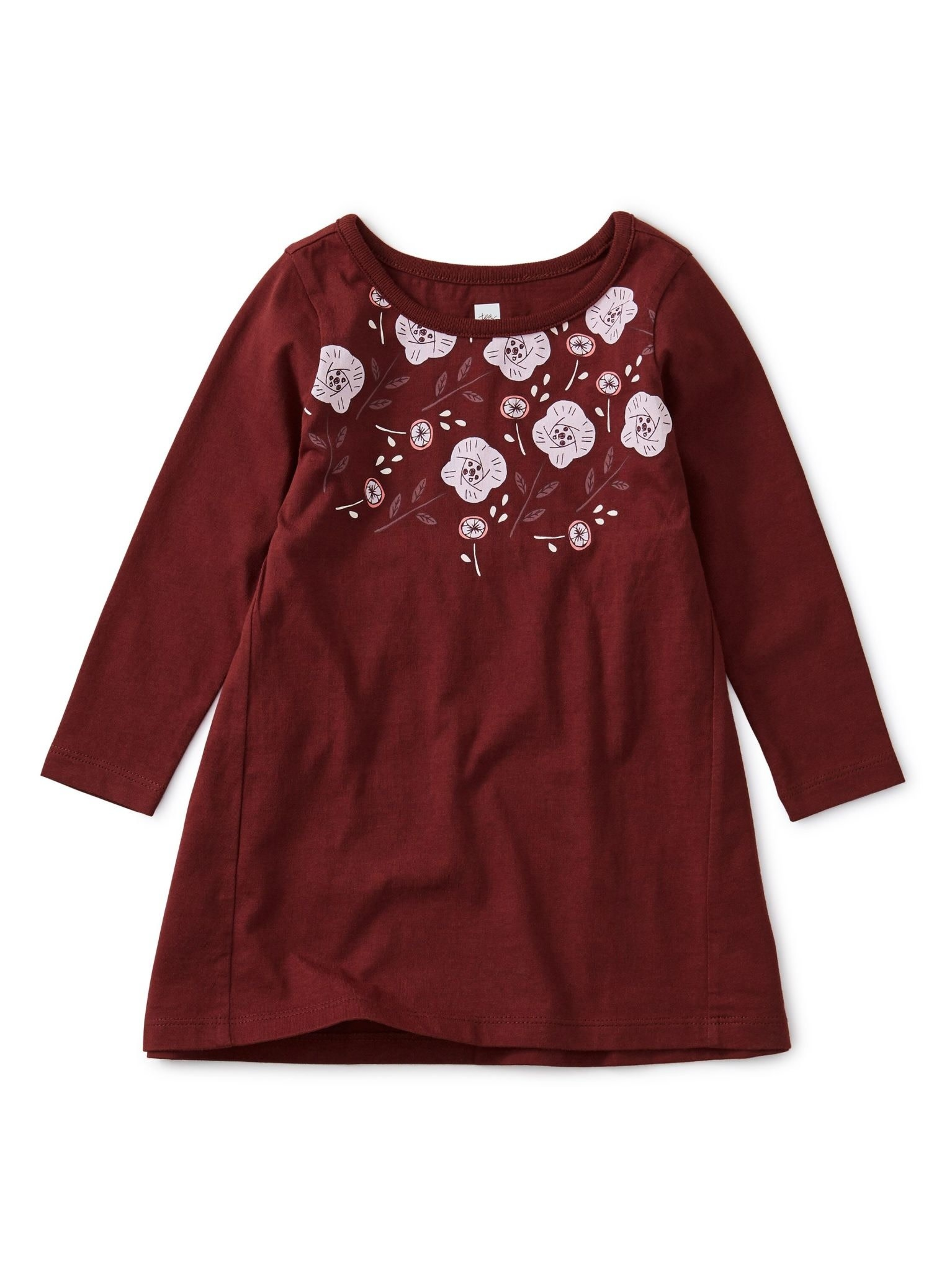 Tea Collection Floral Baby Dress - Boysenberry  6-9M