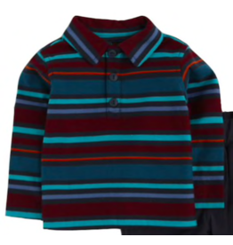 Tea Collection Baby Boy Striped Polo Shirt
