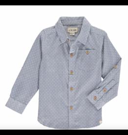 Me + Henry Blue Spot Shirt - Mens XL