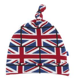 Kickee Pants Print Knot Hat Union Jack 3-12M