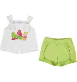 Mayoral Mayoral Tank Top and Short Set Baby Girl - Pistachio