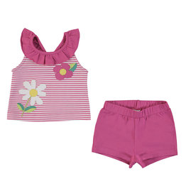 Mayoral Mayoral Tank Top and Short Set Baby Girl - Fuchsia