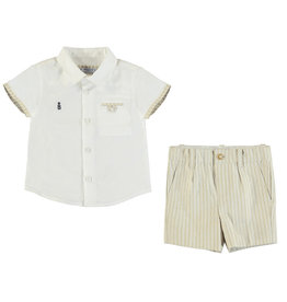 Mayoral Linen Top and Bermuda Short Set Baby Boy