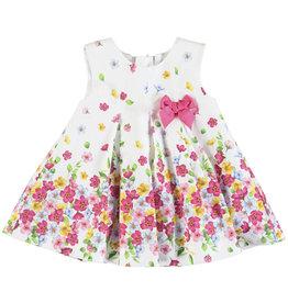 Mayoral Dress Baby Girl - Poplin Strawberry