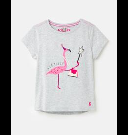 Joules Astra - Gray Flamingo Tee